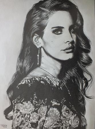 Lana Del Rey par gomme